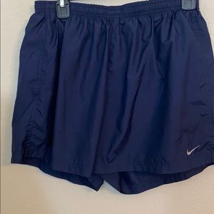 Nike dry fit large running shorts navy blue